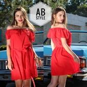 Шифоновое платье волан, размеры 42-44 и 44-46. Распродажа от производителя.