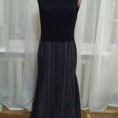 Платье чёрное / полоска