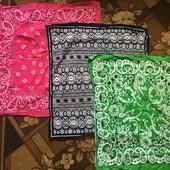 3 ярких платочка на шею в лоте!