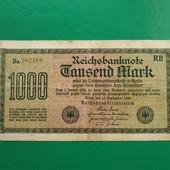 1000 марок 1922 Германия крупная бона