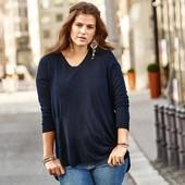 Новая! Шикарная,комбинированная блуза с шифоновой спинкой! TCM Tchibo 48-50 евро, 54-56 наш