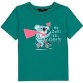 яркая футболка George. 100% котон. новая с биркой. размер 92-98 на 2-3года