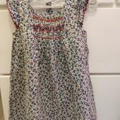 Лёгкое хбшное платье Next 2-3 года
