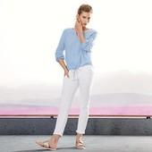 Стильные белые джинсы с вышивкой Tchibo 36 размер /наш 42-44,С-М