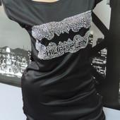 Платье мини. Цвет черный. Размер С-ка. Читайте описание!!!
