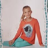 Пижамка для девочки,  русалочка Disney, Геомания  , регланчик плюс штаны,  В упаковке