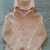 Очень теплый свитшот Next для девочки 7 лет.