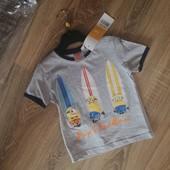 Новая фирменная футболка Illumination studios Minions 3 years.