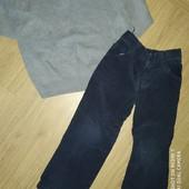 Готовимся к осени! Комплект свитер и вельветовые брюки 4-5лет замеры на фото