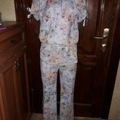 Летний костюм натуральная ткань штаны и блуза