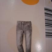 Скоро осень-термо джинсы малышке 98-104 см