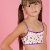 Лот - 2 шт. Очень качественные хлопковые бюстье для девочки среднего и подросткового возраста.