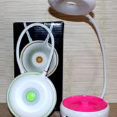 Настольная лампа- фонарь ЛЕД, работает от подзарядки солнечной батареи или сети