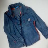 Небагато, але гарні лоти! Дуже класна джинсова сорочка hema, 86 см