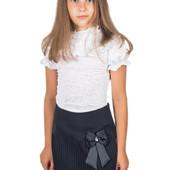 ❤чёрная школьная юбка с бантом и плиссировкой❤ 122 рост ❤ есть только одна