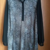 Красивенное новое нарядное платье-блуза 18р.Замерочки.
