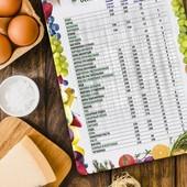 Магнит «Таблица меры и веса основных продуктов»