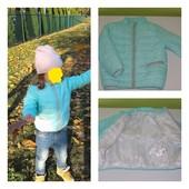 Деми курточка на девочку 2,5-4 года, рост до 98.