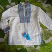 Вышиванка для первоклассника, натуральная ткань