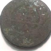 Монета царская Деньга 1747 год, правление Елизаветы 1 Петровны !!!