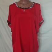 Шикарная комбинированная футболка от Bonmarche,20p(4xl), грудь-124 см