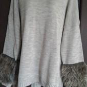 Фирменный новый теплый свитер р. 20-22