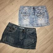 2 джинсовые юбки в лоте!