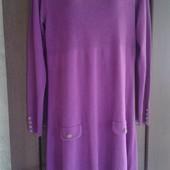 Фирменное теплое трикотажное платье в отличном состоянии р. 16