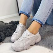 Замшевые кроссовки- пудра,серебр с напылением в стиле Adidas Spiy-550..Есть отзывы! Уже их не будет!