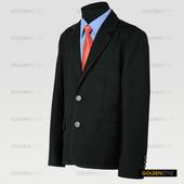 Пиджак черный на рост 122-128см, шерсть - 70%