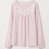 Блуза с кружевом H&M 104,122. Премиум качество.