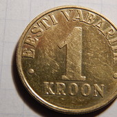 Монета. Эстония. 1 крона 2000 года.