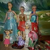 7 классных куколок одним лотом состояние отличное в одежках!!!