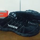 Кроссовки черные Veer Demax - Унисекс,легкие.36,37,38. УП -5% скидка.