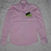 Последняя!!!!Красивая рубашка в розово-пудровом цвете на подростка