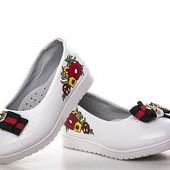Нарядные белые туфельки на утренники , 26-30