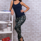 Зимние лосины на МЕХу в стиле джинсов с рисунками, 44-54 размер, рост до170см