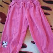 Велюровые штанишки Хелоу Китти, девочке 2-3 года,замеры