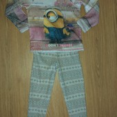 Теплая пижама на девочку 5-6лет замеры на фото