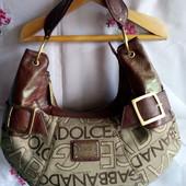 Бренд Dolce & Gabbana-оригінал ( елітний сток ) сумочка натур.шкіра+текстиль.Читаємо до кінця
