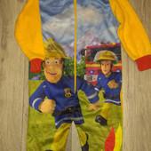 Мягусенькие пижамки Fireman Sam Frozen от Disney р.86/92. Сток!