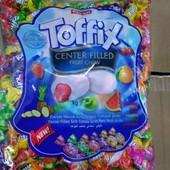 Лакомство для взрослых и детей! Жевательные конфеты с фруктовой начинкой Toffix! 200 грн - 2 кг!