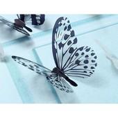 Супер декор!!!!Прозрачные бабочки с чёрно-белыми узорами на крылышках или зеркальные.