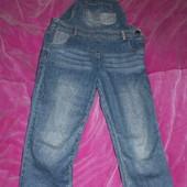 джинсовый комбинезон на 4-5 лет