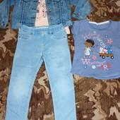 класный набор наш любимый джинсовый 4-5 лет