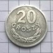 Монета Польши 20 грошей 1965