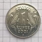 Монета Индии 1 рупия 2001