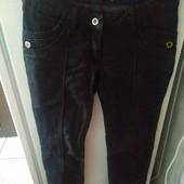 Утеплённые черные джинсы на холодную осень, зиму евро 38 в идеальном состоянии р s, m