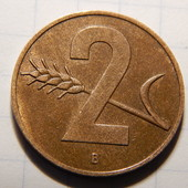 Монета. Швейцария. 2 раппена 1957 года!