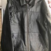 1860 Menswear! Натуральная кожа! Актуальная кэжуал куртка! Размер l / xl !
